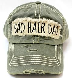 "New! Olive ""BAD HAIR DAY"" Embroidery Patch Baseball Cap C... https://www.amazon.com/dp/B072C83YVY/ref=cm_sw_r_pi_dp_x_bRAlzb775DVPN"