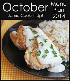 October Menu Plan from Jamie Cooks It Up!