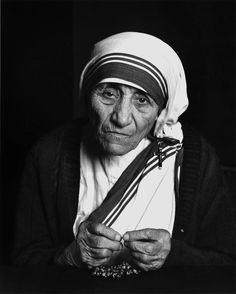 Mother Teresa photographed by Yousuf Karsh, 1988.