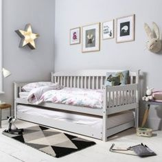 Day Bed Single Bed Isabella with Pull out Trundle in Choice of Colours in Home, Furniture & DIY, Furniture, Beds & Mattresses Single Day Bed, Single Beds, Funky Cushions, Small Guest Rooms, Ikea, Pine Design, Pull Out Bed, Simple Sofa, Daybed With Trundle