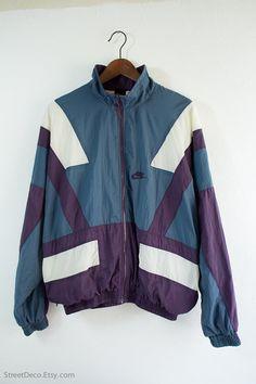 Vintage 90s Nike Sportswear Windbreaker Jacket - (Medium)