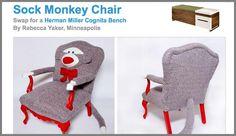 Sock monkey chair :)