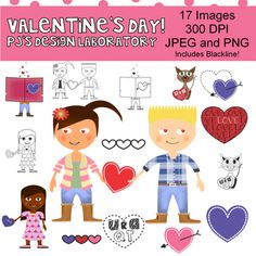 Valentine's Day Clip Art Graphics $