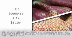 Our journey has begun! Join us as we explore the world of Indian crafts and techniques. Discover the traditions and craftsmanship that go into creating Strand of Silk's alluring contemporary designs. This is just the beginning! Be sure to subscribe to our newsletter to find out where we will take you next. #journeyacrossindia #explore #indian #crafts #techniques #traditions #craftsmanship #contemporary #designs