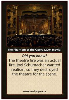 """And by """"theater"""" they mean the set...huh, I always thought that fire looked way realistic..."""