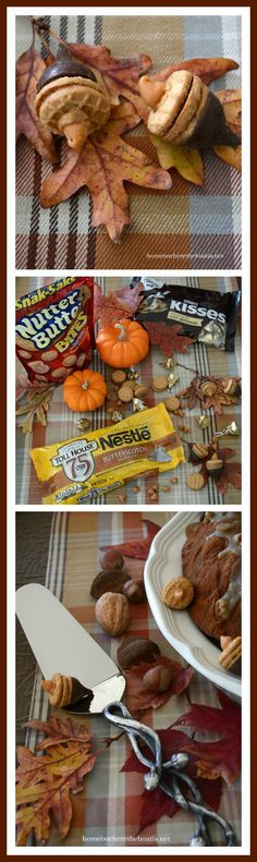 Nutter Butter + Hersey Kisses Acorns, an easy fall treat! | homeiswheretheboatis.net