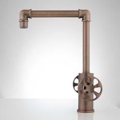 Edison Single Hole Dual Handle Brass Bathroom Faucet With Pop Up