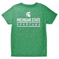 NCAA Boys' Hail Mary Bi-Blend Crew Neck T-Shirt Michigan State Spartans - XL, Multicolored