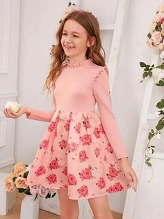 Young Girl Fashion, Preteen Girls Fashion, Girls Fashion Clothes, Fashion Outfits, Kids Fashion, Cute Little Girls Outfits, Cute Girl Dresses, Little Girl Dresses, Baby Girl Dress Patterns