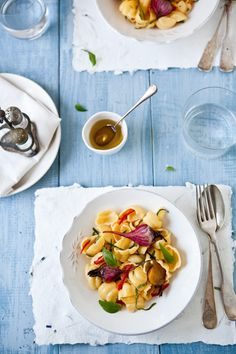 An interesting way to try beets:  Conchiglie With Roasted Beets and Pineapple Sage