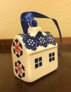 Polish Pottery House Ornament/Accent by MimisMiniMarketplace