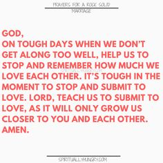 A great tool for any marriage is prayer. We all need Jesus and so do our marriages. Here are 30 prayers for a strong marriage, right in the post, to help you with your marriage at any stage. Prayer For My Marriage, Couples Prayer, Relationship Prayer, Prayer For Love, Godly Marriage, Happy Marriage, Marriage Advice, Love And Marriage, Marriage Help