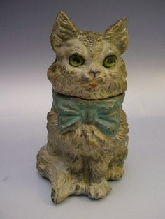 Vintage French Cat Inkwell