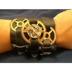 Image result for steampunk jewelry leather