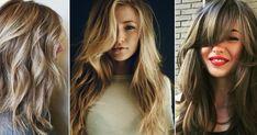 hair ideas wavy hair fringe