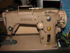 VINTAGE SINGER 319W INDUSTRIAL HEAVY DUTY SEWING MACHINE w/ CARRY CASE