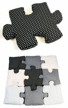 DIY Puzzle pillows....wow!