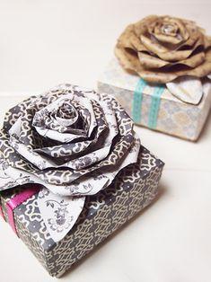作り方:A4サイズの紙1枚でつくるバラのお花