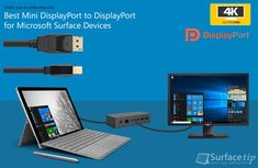 From our reviews, the following Mini DisplayPort to DisplayPort cables is working perfectly with your Microsoft Surface Pro 1/2/3/4, Book and Surface Dock.