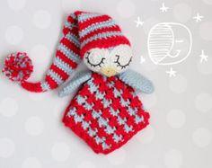 Security Blanket  crochet pattern lovey- Sleepy the Owl