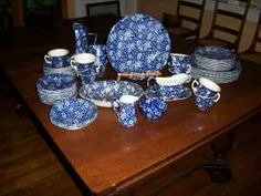 blue calico dishes