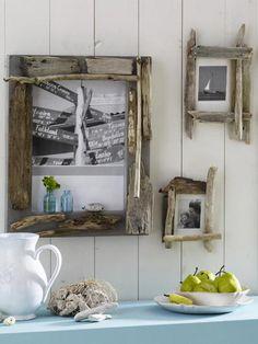 DIY Bilderrahmen aus Treibholz zum Selbermachen