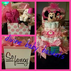 Diaper Cake made by divine BABY Baskets