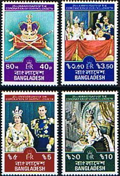 1978 Bangladesh Coronation 25th Anniversary Set Fine Mint SG 116 9Scott 145 8 Other Bangladesh Stamps HERE
