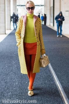 Having FUN with fashion in winter with a colorful winter coat | 40plusstyle.com