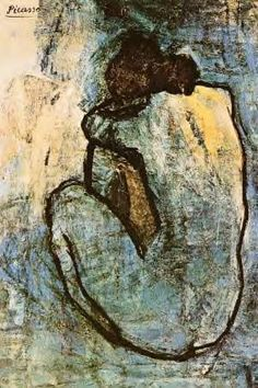Blue Nude, by Pablo Picasso. Picasso was inspired by women.I am inspired by women.I am Picasso! Pablo Picasso, Kunst Picasso, Art Picasso, Picasso Blue, Picasso Paintings, Picasso Prints, Georges Braque, Inspiration Art, Art Moderne