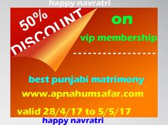 https://flic.kr/p/Sc6XjW | marriage bureau in punjab | join today and get 50% off on VIP membership. India's best Punjabi matrimony website. www.apnahumsafar.com
