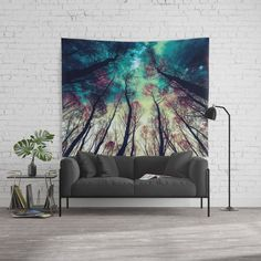 NORDIC LIGHTS Wall Tapestry