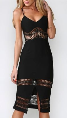 Feeling this spaghetti strap dress.