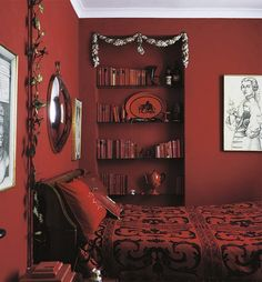 Iconic Interior - Red Bedroom - Interiors By Color