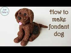 How to make fondant dog cake topper / Jak zrobić psa z masy cukrowej - YouTube