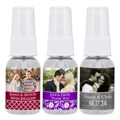 Now here's a photo opportunity - Create the picture perfect favor with our Photo Hand Sanitizer! They're sure to add a special, personalized touch to any big day! Feature a photo of the bride and groom, birthday boy or girl, or the brand new baby.  These travel sized bottles are perfect for wedding receptions, guest hotel bags, bridal and baby showers, anniversaries or any special celebration. Wipe away unwanted germs while keeping hands soft with moisturizer enriched hand sanitizer favors. Travel Size Products, New Baby Products, Travel Size Bottles, Personalized Party Favors, Wipe Away, Hand Sanitizer, Boy Birthday, Big Day, Wedding Receptions