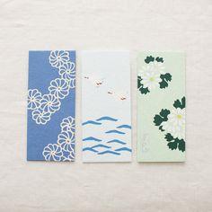 HAIBARA Pochibukuro Paper Pockets/Envelopes {Kikutsunagi - Chains of chrysanthemum}