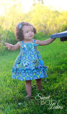 Baby Aubrey's Tiered Knot Dress PDF Pattern | Sewing Pattern | YouCanMakeThis.com