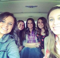 Duggar Teen Girls. Jinger, Joy, Jana, Jessa, and Jill