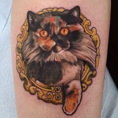 Here kitty kitty. Courtesy of @snakesnladders  #tattoo #tattoos #cattattoo…