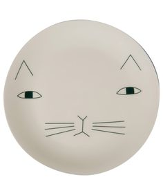 Donna Wilson White Mog China Plate | Dining by Donna Wilson | Liberty.co.uk