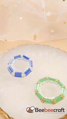Bead Jewellery, Wire Jewelry, Beaded Jewelry, Jewelry Tools, Bugle Beads, Seed Beads, Beaded Rings, Beaded Bracelets, Handmade Bracelets