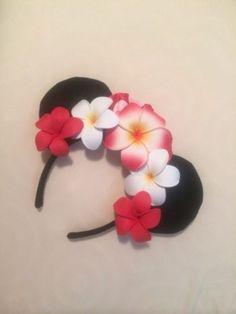 Disney Cruise Vacation Club Castaway Club Aulani Hat Minnie Mouse Flower Ears