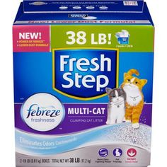 Fresh Step Multi Cat Scented Cat Litter, 38 Pounds $17.70