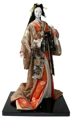 Antique Japanese doll.