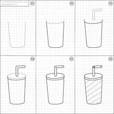 How to draw a milkshake.