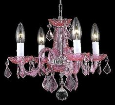 Elegant Lighting - 7804D15PK-RO/RC - Four Light Pendant - Pink