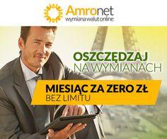 Oszczędzaj na wymianach MIESIĄC ZA ZERO ZŁ BEZ LIMITU  https://konto.amronet.pl/miesiac-za-darmo-bez-limitu