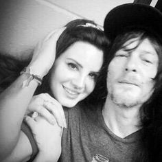 So cool! Lana Del Rey and Norman Reedus backstage after the show in Georgia #LDR #Endless_Summer_Tour ♡♡♡