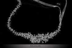 Floral Cluster Swarovski Crystal Bridal by BelovedSparkles on Etsy